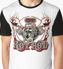 Cartoon Turbo Engine with vintage lettering poster Graphic T-Shirt