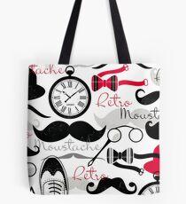 Retro Moustache  Tote Bag