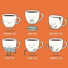 Types of tea by Milkyprint