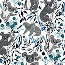 Blue Cute Cuddly Koalas  by TigaTiga