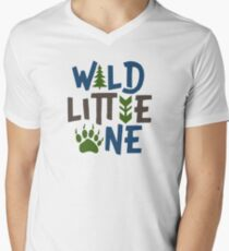 Wild little one Men's V-Neck T-Shirt