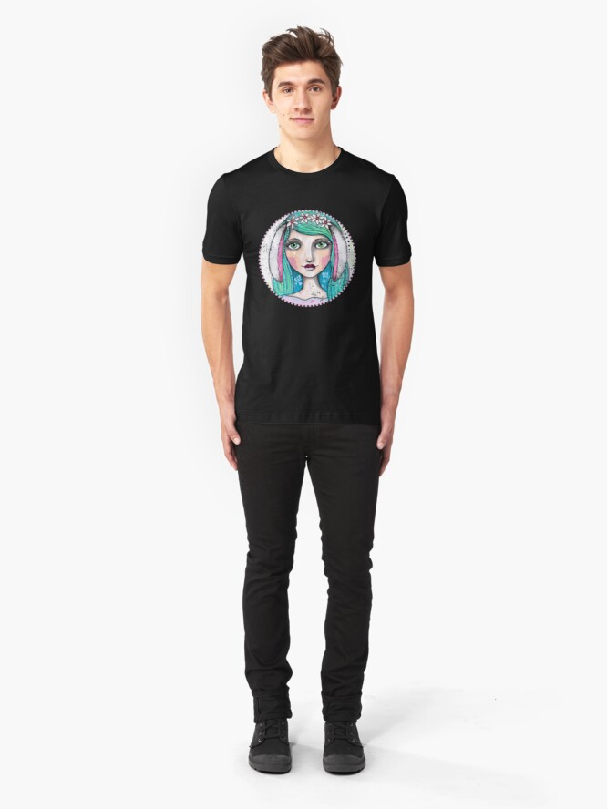 Alternate view of It's A Bunny Kind Of Day Slim Fit T-Shirt