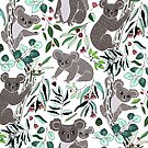 Green Cute Cuddly Koalas  by TigaTiga