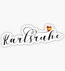 Karlsruhe Flag Heart, Baden-Württemberg Sticker