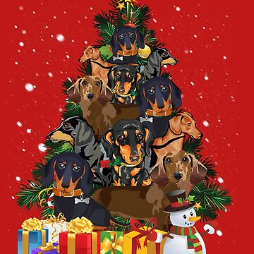 Dachshund Tree Christmas by charlene1514
