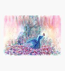 Mystical Blue Bird Watercolor Art Photographic Print