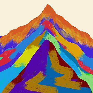 Mountains Of Color by mindsgallery
