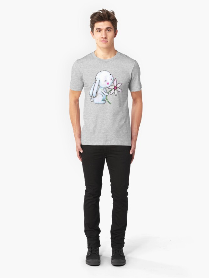 Alternate view of EveryBunny Needs SomeBunny Slim Fit T-Shirt