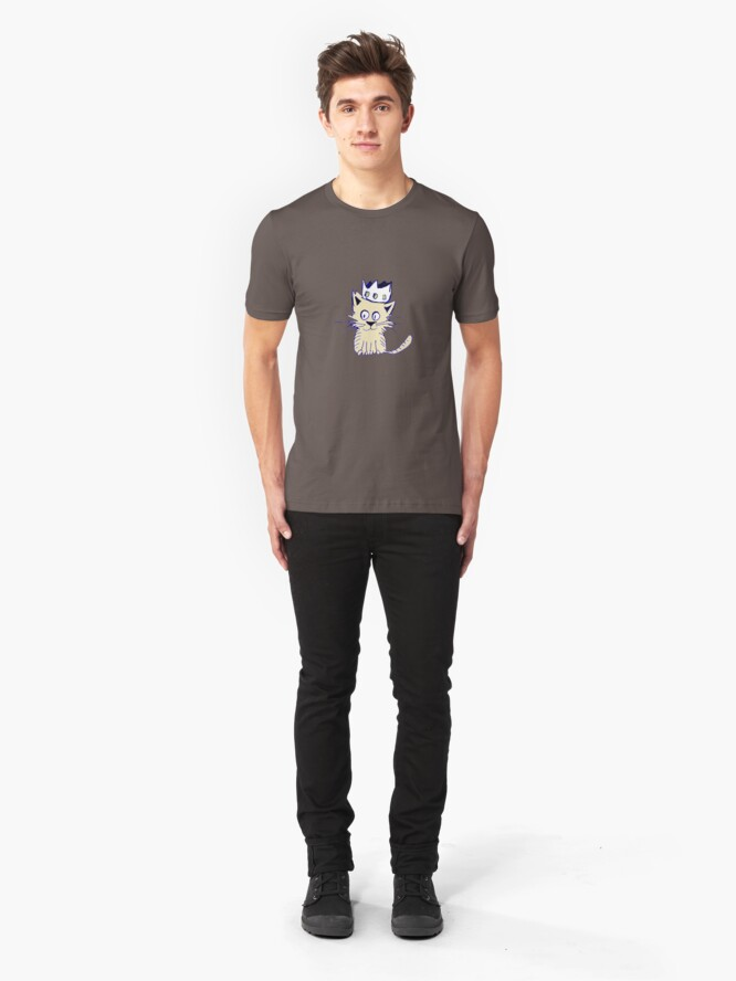 Alternate view of King of cats Slim Fit T-Shirt
