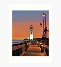 Wawatam Lighthouse in St. Ignace, Michigan Art Print