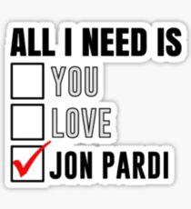 JON P Sticker