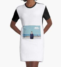 Magritte to Sicily Graphic T-Shirt Dress