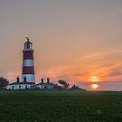 Happisburgh Lighthouse at Sunset by Jim Key