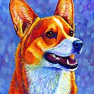 Colorful Pembroke Welsh Corgi Dog by Rebecca Wang