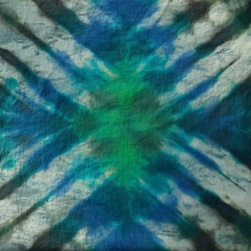 Tie Dye in Blue and Green 15 by LoraMaze