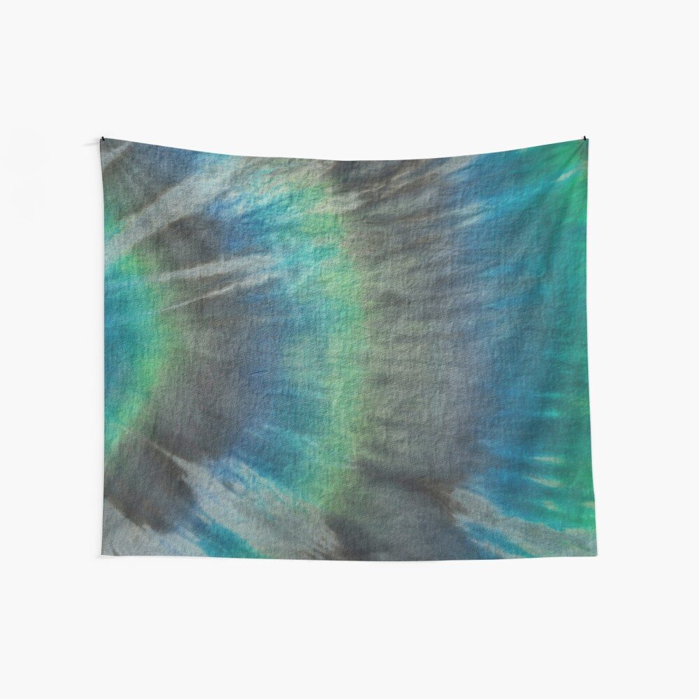 Tie Dye in Blue and Green 17 Wall Tapestry