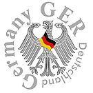 Germany..GER..Deutschland Logo, with Eagle by edsimoneit