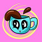 COFFEE TIME! Cute Coffee Cup Illustration by Shelly Still