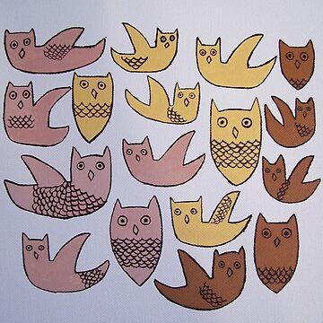 owl's a plenty  by catherineinsch