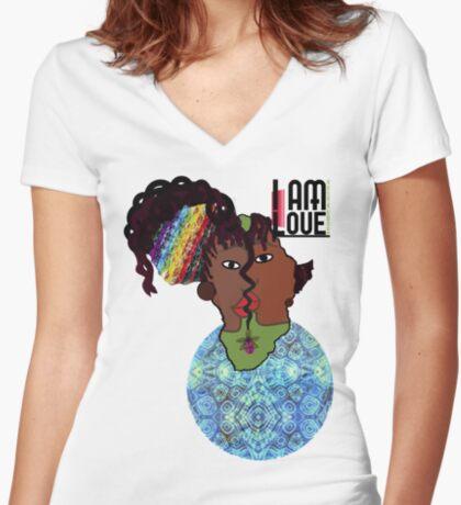Zen - I Am Voice Women's Fitted V-Neck T-Shirt