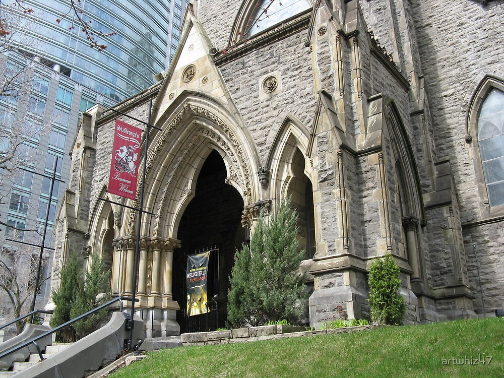 Quot St George S Anglican Church Montreal Quot By Artwhiz47