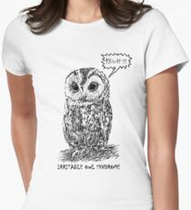 Irritable Owl Syndrome! Women's Fitted T-Shirt