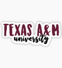 Texas A&M University Sticker