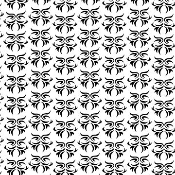 tribal in black and white / pattern Art Print by ViiGlory