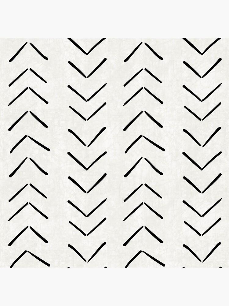 Tela de barro grandes flechas en blanco y negro de beckybailey