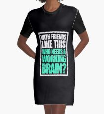 Distressed Brain Injury Concussion Get Well Gift Graphic T-Shirt Dress