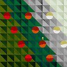 «Árbol de navidad patrón de vacaciones I» de OwlyChic