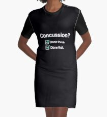Brain Injury Concussion Recovery Gift - Funny Graphic T-Shirt Dress