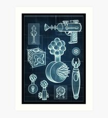 Rick and Morty - Schematic #2 Art Print