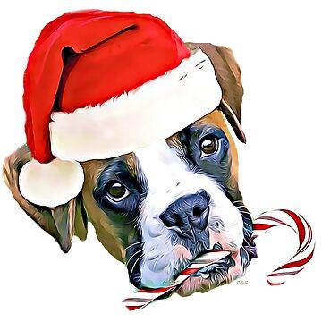 Christmas Boxer Dog by ritmoboxers
