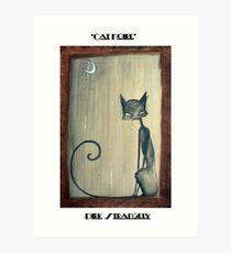 Dirk Strangely's CAT NOIRE Art Print