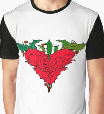Holly Heart Graphic T-Shirt