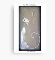 Dirk Strangely's LE CAT NOIRE EVE Canvas Print