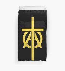 Christian Libertarian AnCap - Cross Logo Duvet Cover