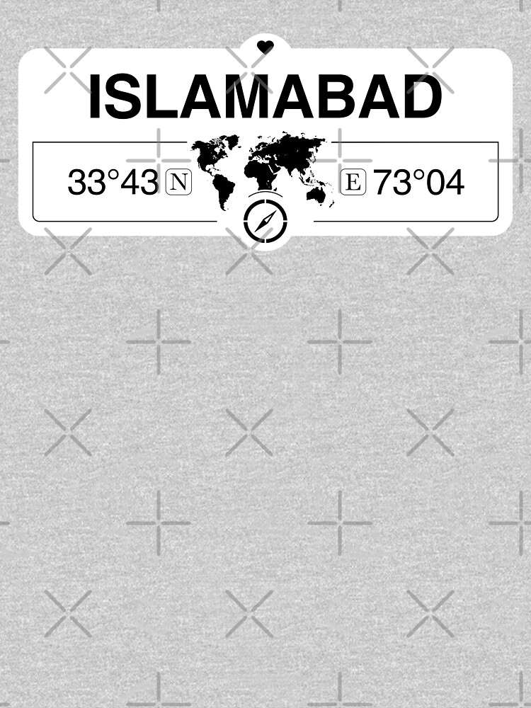 Islamabad Capital Territory with World Map Coordinates  by Map-Your-World
