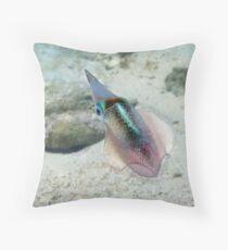 Underwater Sealife - Squid Throw Pillow