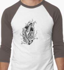 Saddle Patch Heart v2 Men's Baseball ¾ T-Shirt