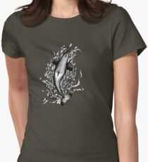 Saddle Patch Heart v2 Women's Fitted T-Shirt