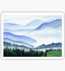 Watercolor mountains Sticker