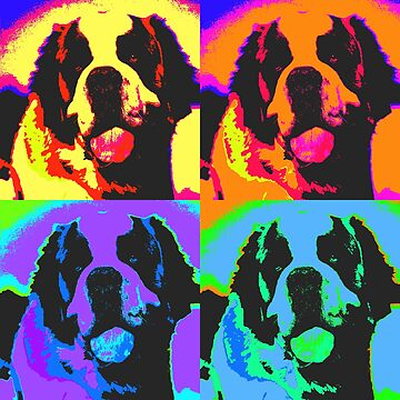 St. Bernard Pop Art Design by Chunga