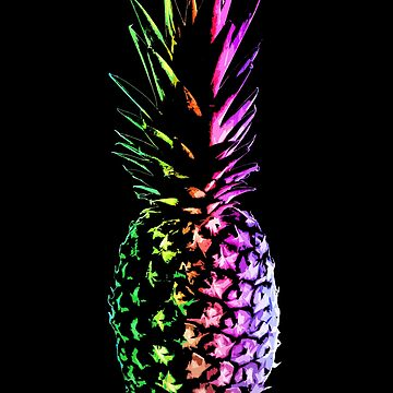 Rainbow Pineapple by robotface