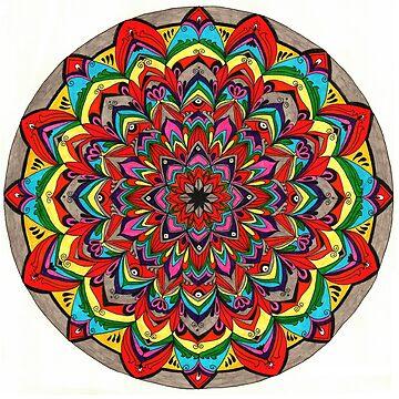 Rainbow Mandala by Gambargombor