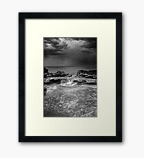 stormy weather - jervis bay australia Framed Print