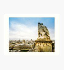 Guardian of Paris Art Print