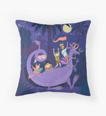 Nighttime Dragon Ride Floor Pillow