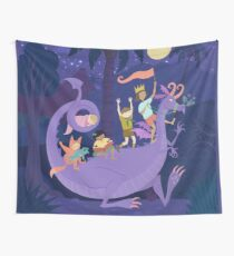 Nighttime Dragon Ride Wall Tapestry